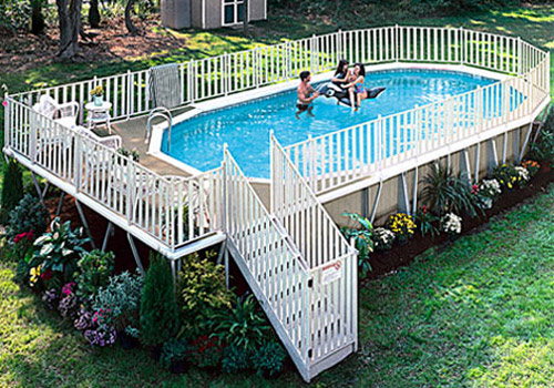 above ground pool - Above Ground Fiberglass Swimming Pools