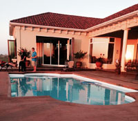 Fiberglass Pool manufactured by San Juan Pools