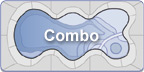 Combo - Combination Fiberglass Spa Pools