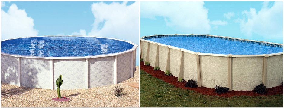 Quality swimming pool kits systems fiberglass pool for Above ground fiberglass pools