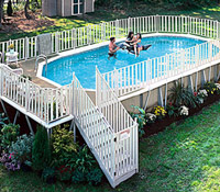 Above Ground Pool manufactured by Hoffinger