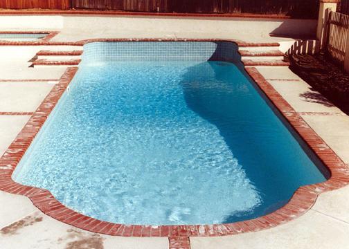 Large Classic Fiberglass Pool Pacific