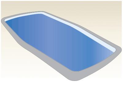 Large Classic Fiberglass Pool