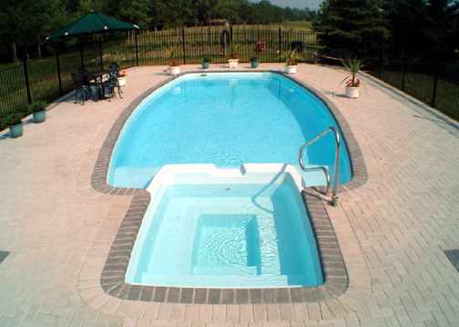 Large Combination Fiberglass Pool - Olympus