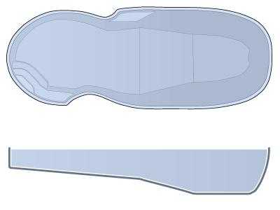 Large Figure 8 Fiberglass Pool - Oasis