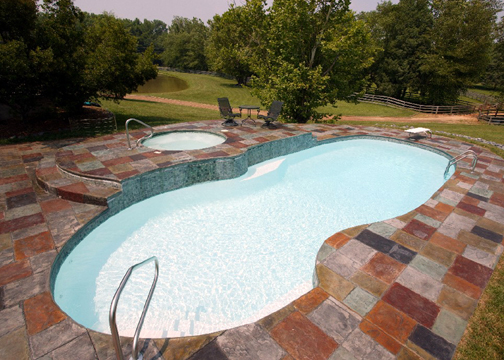 Large Figure 8 Fiberglass Pool - Oasis