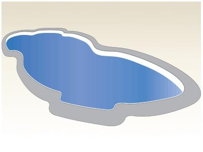 Large Figure 8 Fiberglass Pool