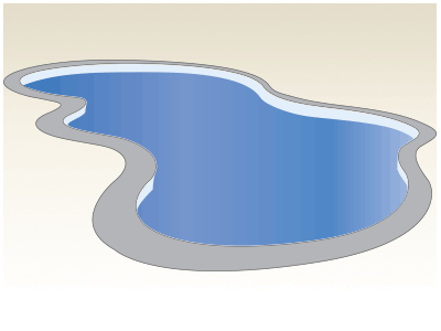 Large Freeform Fiberglass Pool