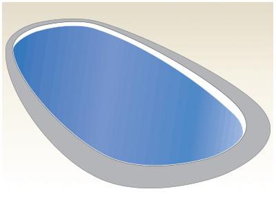 Large Oval Fiberglass Pool