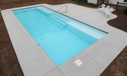 Large Rectangle Fiberglass Pool - Grand Manhattan