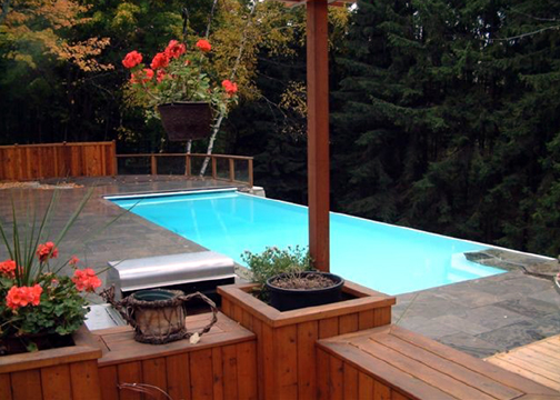 Large Rectangle Fiberglass Pool - Luxor