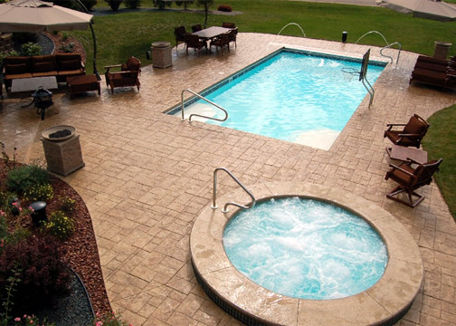 Large Rectangle Fiberglass Pool - Monte Carlo