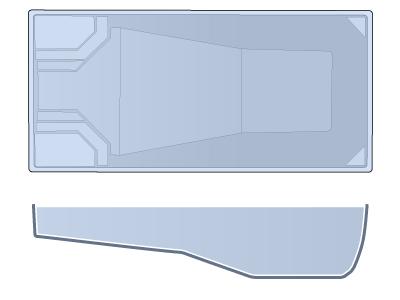 Large Rectangle Fiberglass Pool - Niagara
