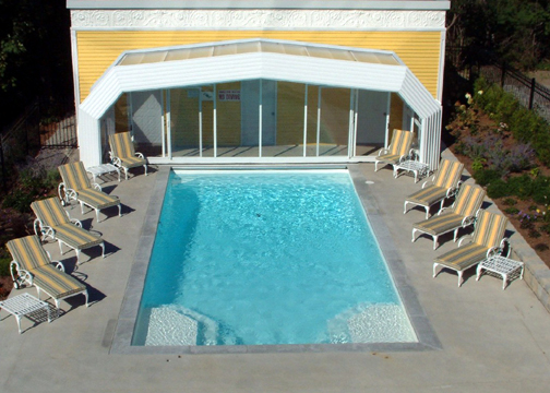 Large Rectangle Fiberglass Pool - Niagara