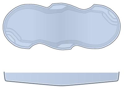 Large Sport Fiberglass Pool - Mirage
