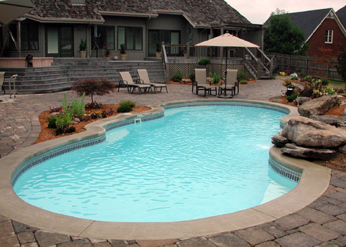 Large Sport Fiberglass Pool - Mirage