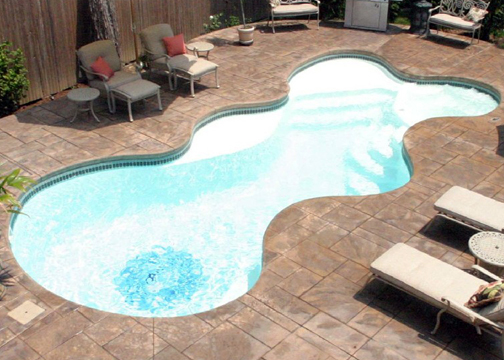 Medium Combination Fiberglass Pool - Desert Springs
