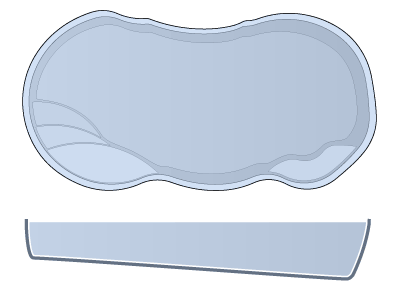 Medium Freeform Fiberglass Pool - Lelani