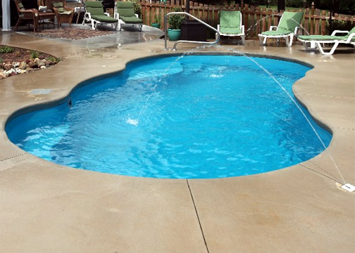 Medium Freeform Fiberglass Pool - Lelani