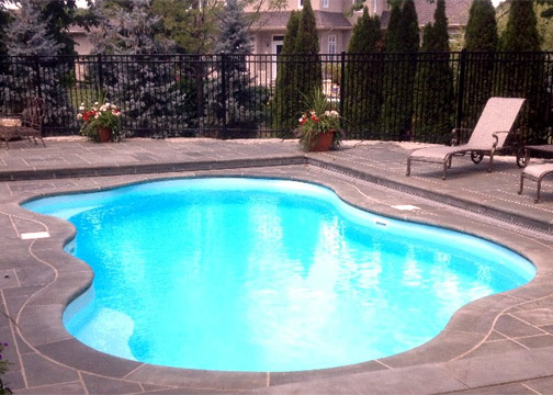 Medium Freeform Fiberglass Pool - Rio