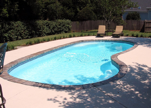 Medium Kidney Fiberglass Pool - Manatee
