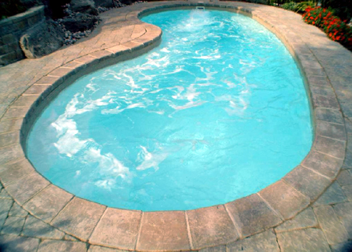 Medium Rectangle Fiberglass Pool - Seaside