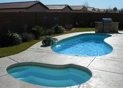 Medium Kidney Fiberglass Pool - Star Light