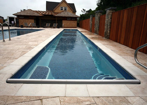 Medium Lap Fiberglass Pool - Marathon