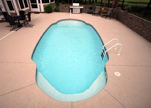 Medium Oval Fiberglass Pool - Kokomo