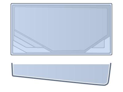 Medium Rectangle Fiberglass Pool - Stockholm
