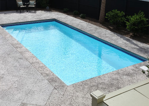 Medium Rectangle Fiberglass Pool - Stockholm