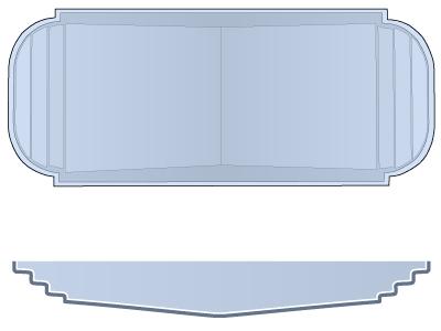 Medium Sport Fiberglass Pool - Dolphin