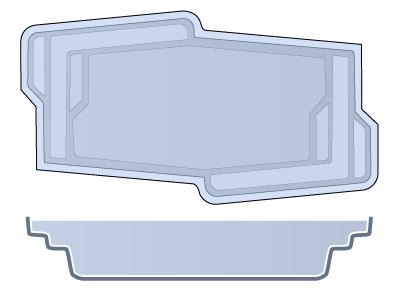 Small Classic Fiberglass Pool - Malibu