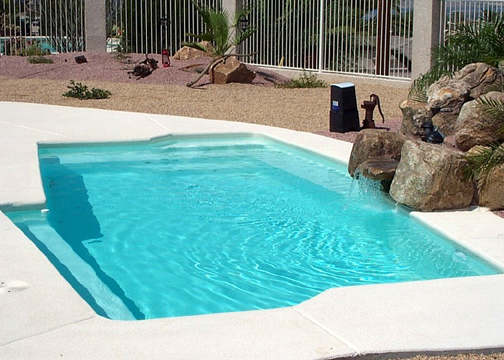 Small inground pools pictures joy studio design gallery for Above ground fiberglass pools