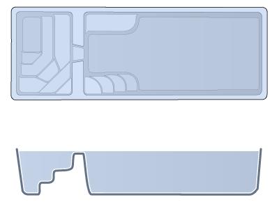 Small Combination Fiberglass Pool - Cyberlane