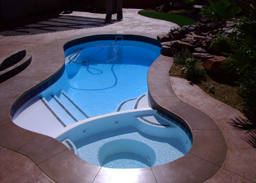 Small Combination Fiberglass Pool Mandalay Bay