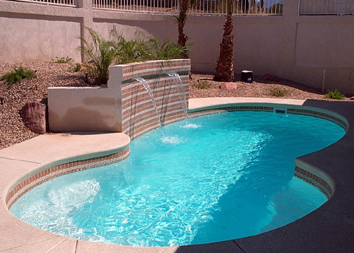 Small Figure 8 Fiberglass Pool - Bayside