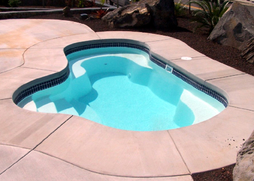Small Fiberglass Inground Swimming Pools : Small freeform fiberglass pool crystal springs