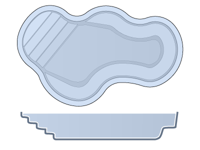 Small Freeform Fiberglass Pool - Vancouver