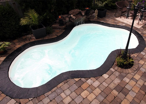Small Freeform Fiberglass Pool - Vancouver