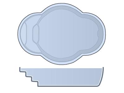 Small Oval Fiberglass Pool - Paradise