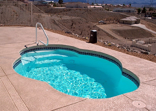 Small Fiberglass Inground Swimming Pools : Small oval fiberglass pool paradise