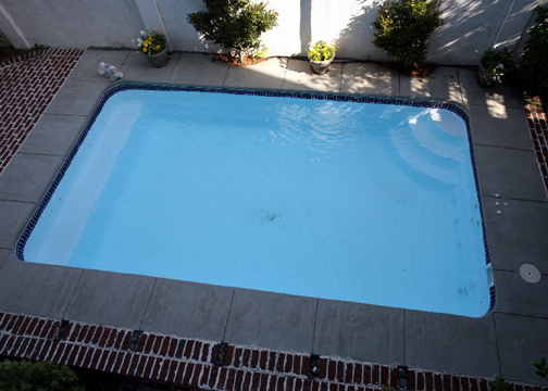Small Rectangle Fiberglass Pool - Gulf Breeze