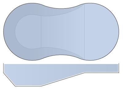 Classic Vinyl Liner Pool - Figure-8