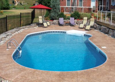 Lazy L Vinyl Liner Pool - Arizona