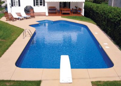 Lazy L Vinyl Liner Pool - Bahama Lazy L